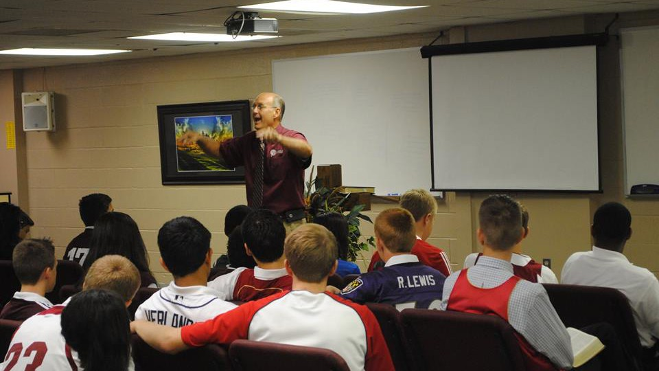 David Pittman with students